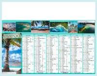 Calendrier bancaire personnalisable thématique - AGC27 Iles de Paradis - Pandacola