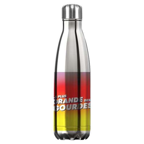 Gourdes - Gourde isotherme Quadrichromie acier inoxydable 500 ml - Eevo Quadri - Pandacola
