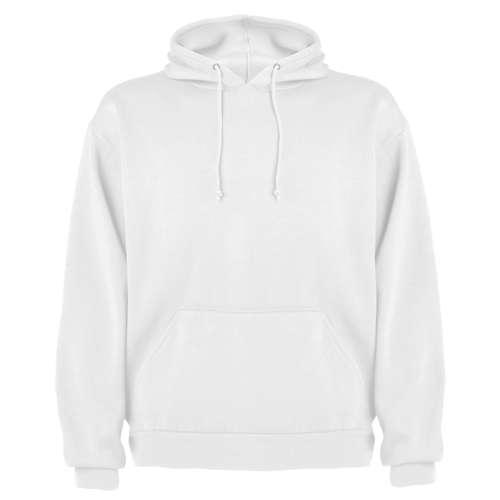 Sweats - Sweat publicitaire mixte à capuche blanc kangourou avec cordons 280 gr/m² - Tokyo - Pandacola