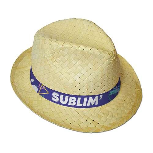 Chapeaux - Chapeau de paille promotionnel avec bandeau cousu sublimation - Braz Paja - Pandacola