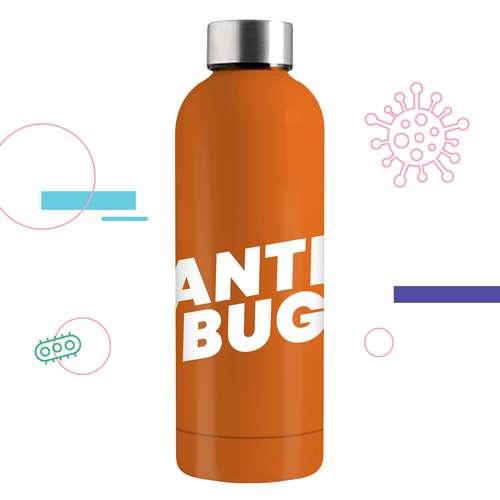 Gourdes - Gourde isotherme Anti-Bactériens/Microbes 500 ml - Kulus AntiBug - Pandacola