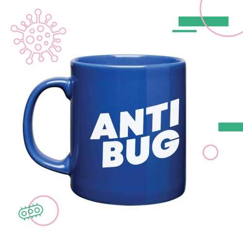 Mugs - Mug coloré Anti-Bactériens/Microbes 285 ml - Cambridge Antibug - Pandacola