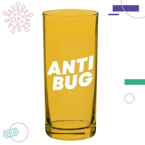 Verres à eau - Verre transparent Anti-Bactériens/Microbes 250 ml - 10oz Glass Antibug - Pandacola