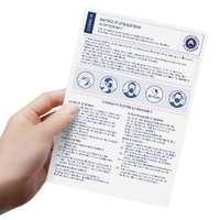 Flyers A5 pour masques grand public : informations et certifications - Pandacola