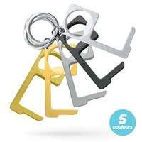 Porte-clés ouvre-porte en zamak gravable - Clean touch - Pandacola