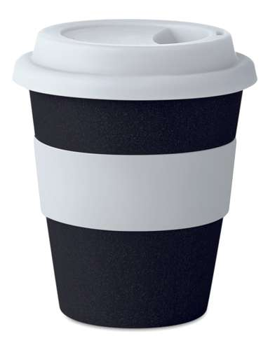 Mugs - Gobelet personnalisé expresso 120 ml bambou et PP avec couvercle - Extry - Pandacola