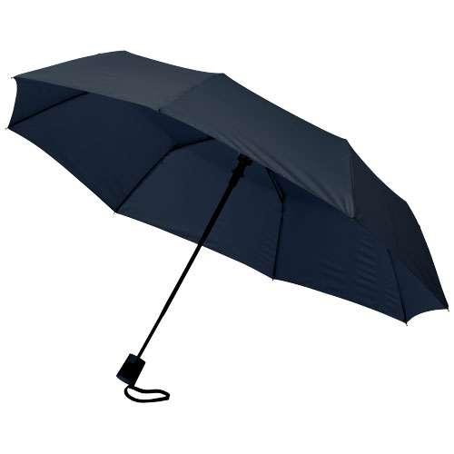 Parapluies classiques - Parapluie pliant publicitaire 3 sections automatique manche droit - Wali - Pandacola