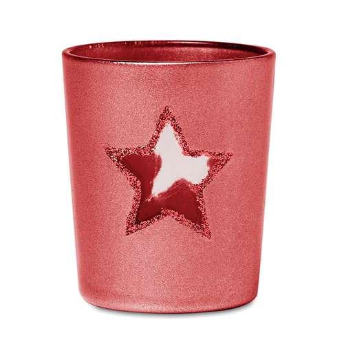 Photophores et bougeoirs - Bougeoir personnalisé en verre avec étoile et bougie incluse - Sunny Star - Pandacola