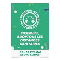 Affiche publicitaire en quadrichromie recto 135 gr/m² 50 x 70 cm - Tab - Pandacola