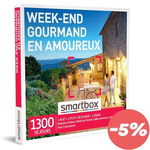 Coffrets et box cadeaux - Coffret cadeau Séjour gastronomique - Week-end gourmand en amoureux |Smartbox - Pandacola