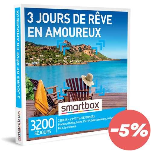 Coffrets et box cadeaux - Coffret cadeau Séjour - 3 jours de rêve en amoureux |Smartbox - Pandacola