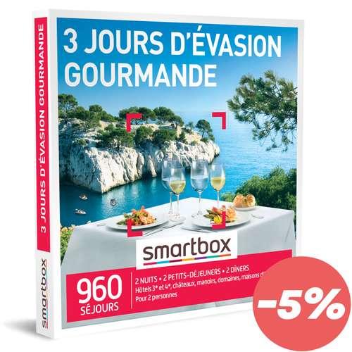 Coffrets et box cadeaux - Box cadeau Séjour Gastronomique - 3 jours d'évasion gourmande |Smartbox - Pandacola