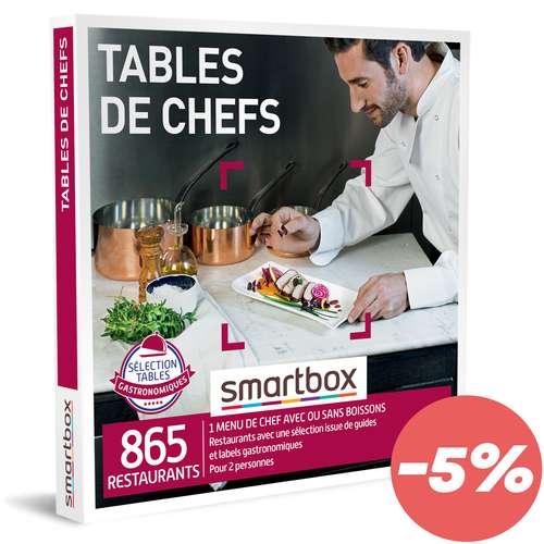 Coffrets et box cadeaux - Coffret cadeau Gastronomie - Tables de chefs  Smartbox - Pandacola