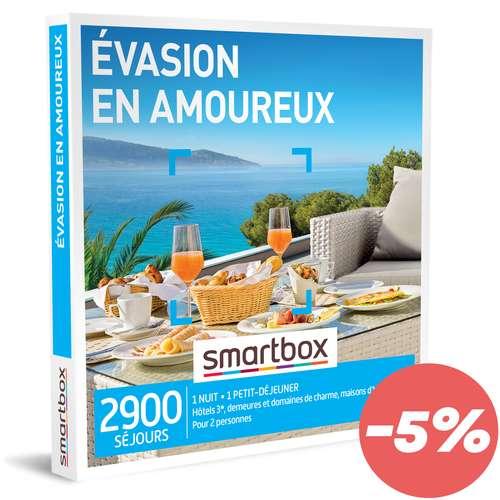 Coffrets et box cadeaux - Coffret cadeau Séjour - Évasion en amoureux |Smartbox - Pandacola