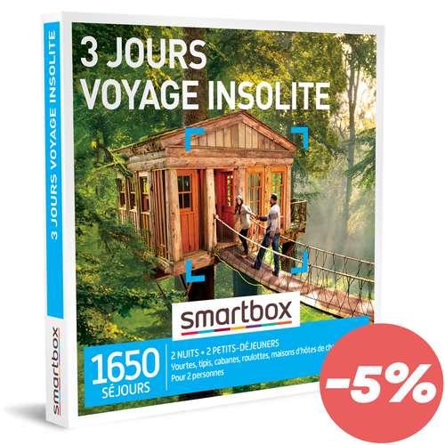 Coffrets et box cadeaux - Coffret cadeau Séjour - 3 jours voyage insolite |Smartbox - Pandacola