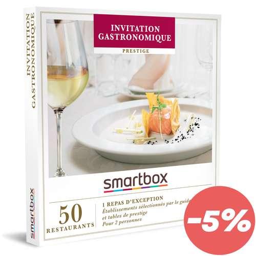 Coffrets et box cadeaux - Coffret cadeau Prestige gastronomique - Invitation Gastronomique  Smartbox - Pandacola
