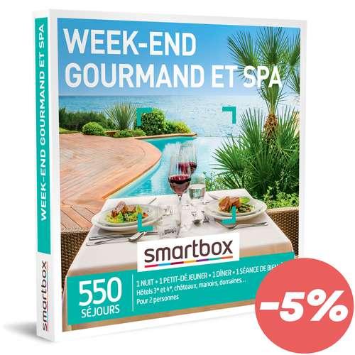 Coffrets et box cadeaux - Coffret cadeau Séjour Bien être - Week-end gourmand et spa |Smartbox - Pandacola