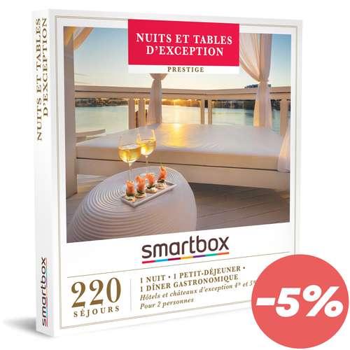 Coffrets et box cadeaux - Box cadeau Prestige gastronomique - Nuit & tables d'exception |Smartbox - Pandacola