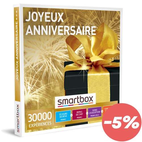 Coffrets et box cadeaux - Box cadeau Muti-activités - Joyeux anniversaire |Smartbox - Pandacola