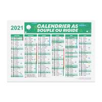 Calendrier bancaire publicitaire 2021 recto/verso format A5 - Alford - Pandacola