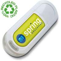 Clé USB publicitaire écologique recyclée à capuchon clipsé - Eco2 - Pandacola
