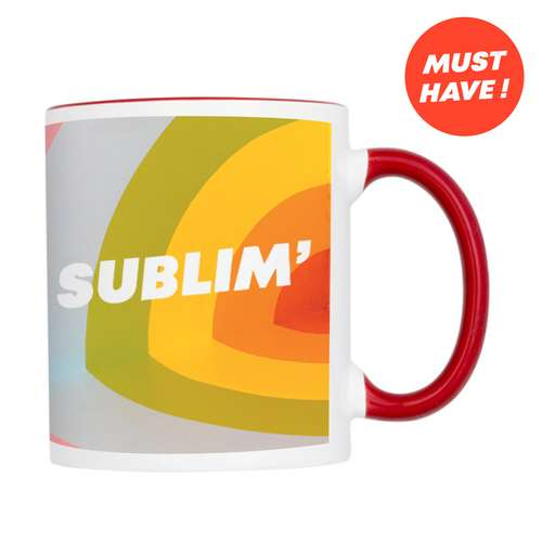 Mugs - Mug personnalisé céramique bicolore marquage sublimation 320 ml - Paterson - Pandacola