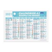 Calendrier bancaire publicitaire 2021 recto/verso format A2 - Bartow - Pandacola