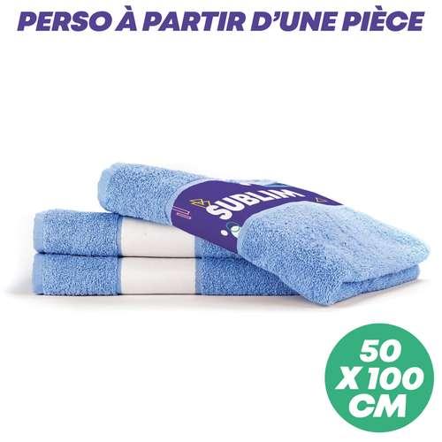 Serviettes de toilette (50x100) - Serviette de toilette personnalisable en sublimation 50x100 cm 400 gr/m² - Print - Pandacola
