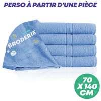 Drap de douche personnalisé 70x140 cm 400 gr/m² - Quality - Pandacola