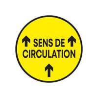 """Sticker de sol rond """"Sens de circulation"""" avec flèches de direction - Guila - Pandacola"""