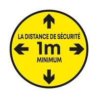 """Sticker de sol rond """"Respectez la distance de sécurité"""" - Pila - Pandacola"""