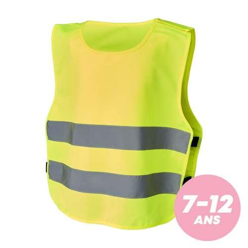 Gilets de sécurité - Gilet de sécurité personnalisé à velcro taille enfant 7-12 ans - Lura - Pandacola