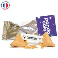 Fortune Cookies made in France avec carte publicitaire et messages personnalisables - Pandacola