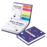 Carnet publicitaire de notes adhésives et marque-pages - Pandacola