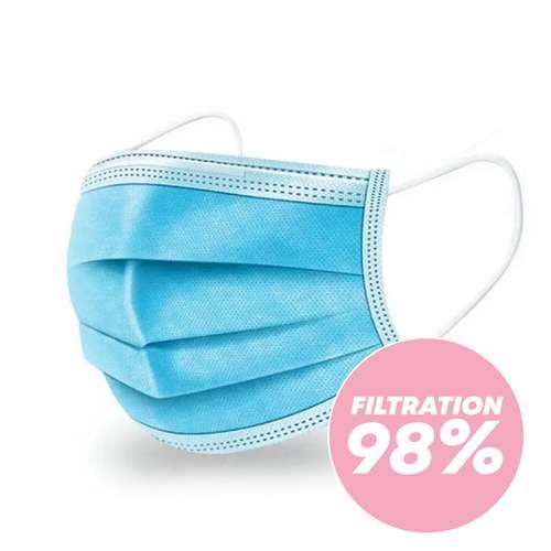 Masques de protection - Chirurgical type II - Masque 3 plis 98% de filtration - Pandacola