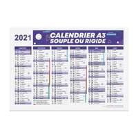 Calendrier bancaire publicitaire 2021 recto/verso format A3 - Archer - Pandacola