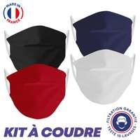 Masque UNS2 10 lavages - kit à coudre - Pandacola