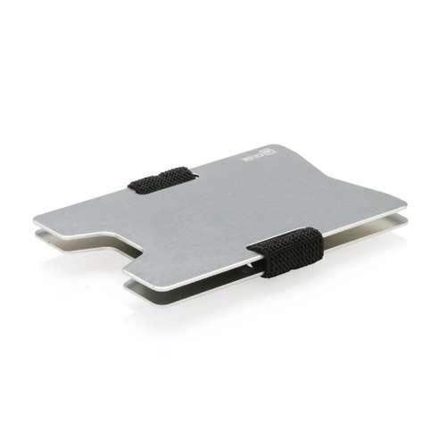 Porte-cartes (cartes de fidélité, transport, etc.. - Porte-cartes personnalisé minimaliste en aluminium anti RFID - Sartus - Pandacola