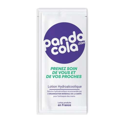 Gels hydroalcooliques - Sachet de 1,5mL lotion hydroalcoolique personnalisable - Pandacola
