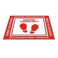 Sticker de sol promotionnel carré en vinyle 50x50 cm - Zelo - Pandacola