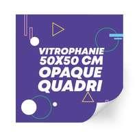 Sticker en vinyle vitrophanie opaque 50x50 cm format carré - Kista - Pandacola