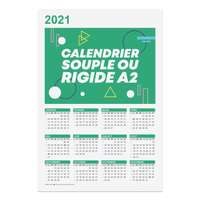 Calendrier  publicitaire 2021 recto format A2 - Branford - Pandacola