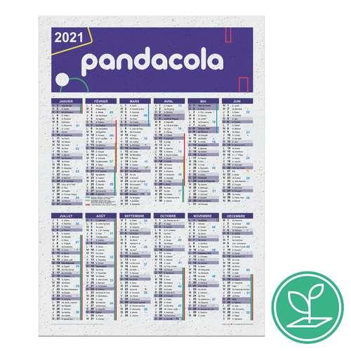 Papeterie à ensemencer - Calendrier publicitaire colonne A5 à semer après utilisation en papier - Marli - Pandacola