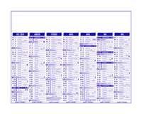 Calendrier bancaire personnalisable 27 x 21 cm | Premium - Pandacola