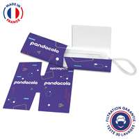 Masque UNS1 30 lavages + protège masque personnalisé - Made in France - Pandacola