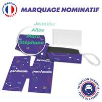 Masque UNS1 30 lavages + protège masque personnalisé et nominatif - Made in France - Pandacola