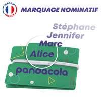 Protège masque nominatif en papier recyclé fabriqué en France - Pandacola