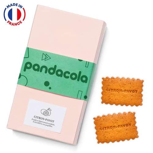 Autres biscuits sucrés - Boite promotionnelle de 12 biscuits à personnaliser  - Made in France - Pandacola