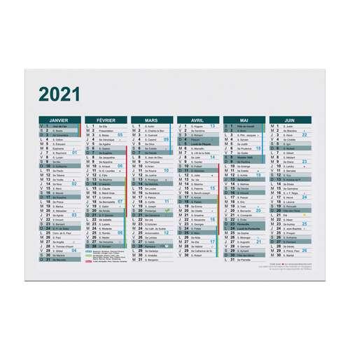 Calendrier bancaire publicitaire 2021 recto/verso format A4