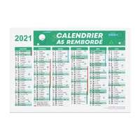 Calendrier bancaire 2021 rembordé personnalisable r/v A5 en carton rigide - Dili - Pandacola